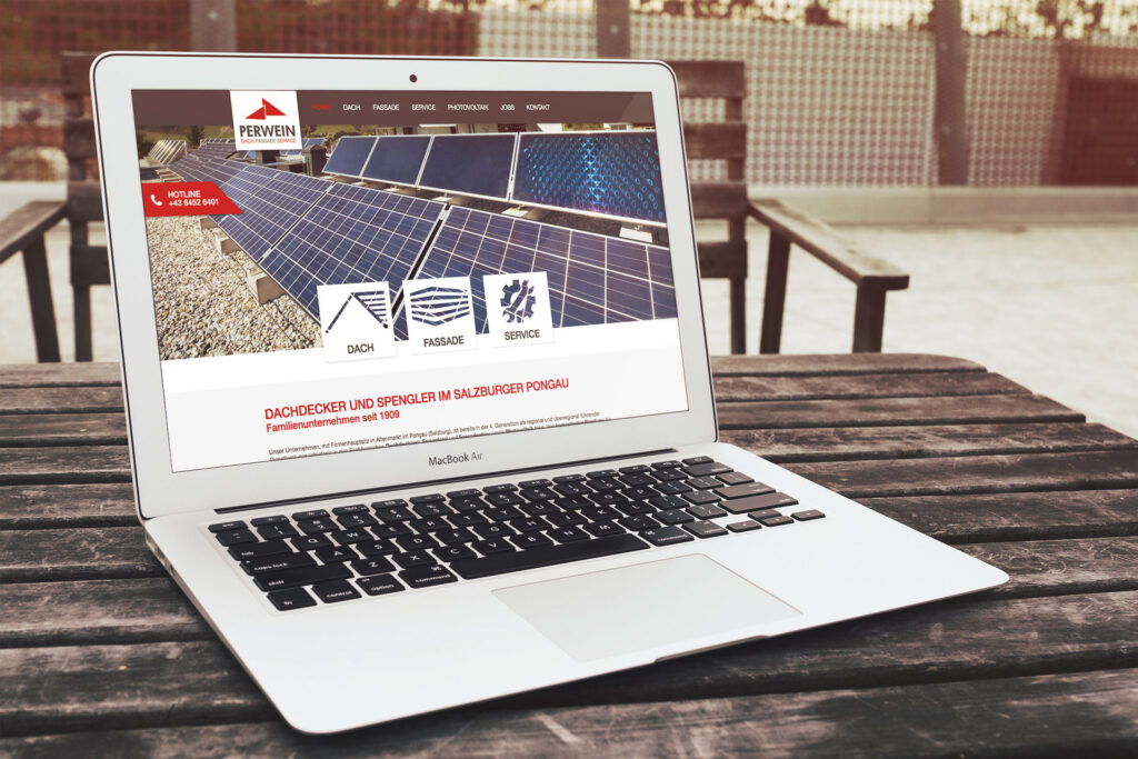 Perwein Dach Fassade Service Website